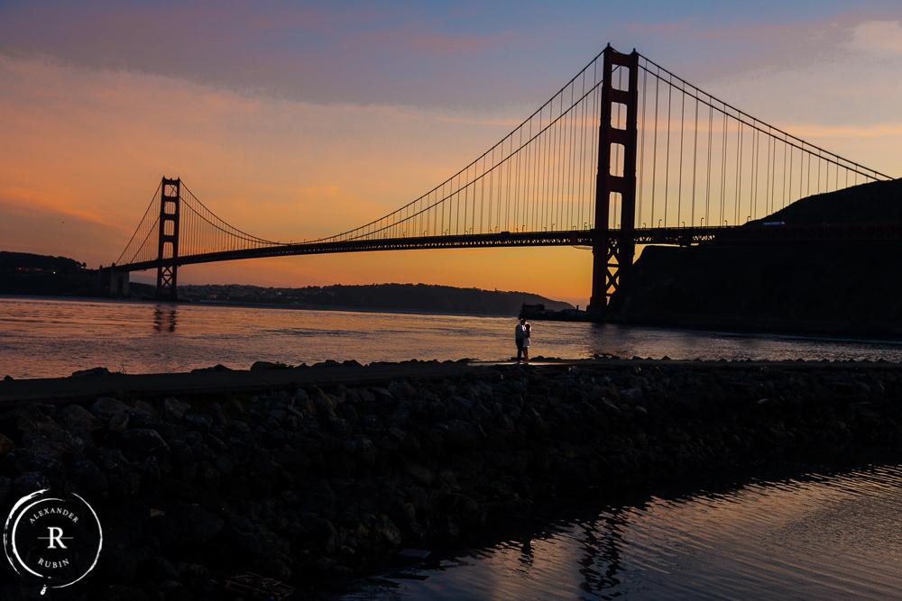 Golden Gate Bridge Engagement Photography Alexander Rubin Weddings