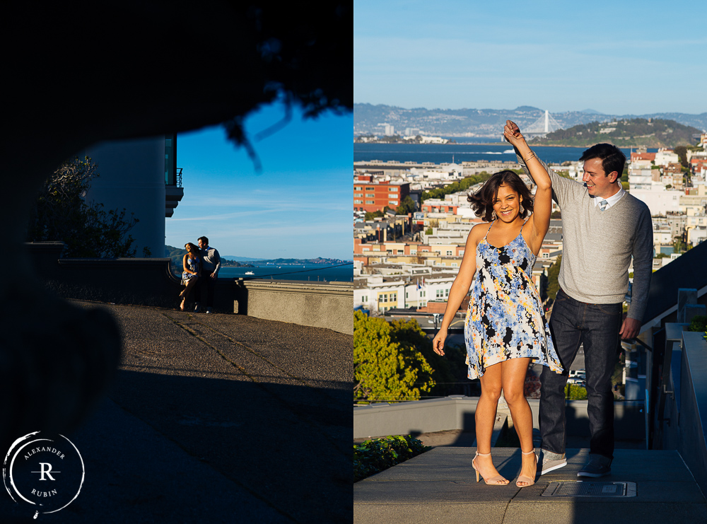 San Francisco and Golden Gate Bridge Engagement Session 0009