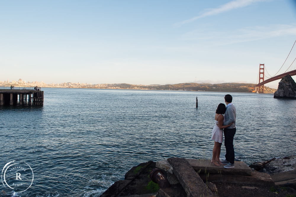 San Francisco and Golden Gate Bridge Engagement Session 0010