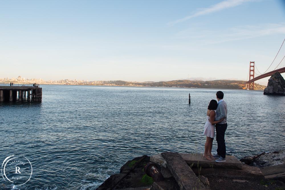 San Francisco and Golden Gate Bridge Engagement Session 0010