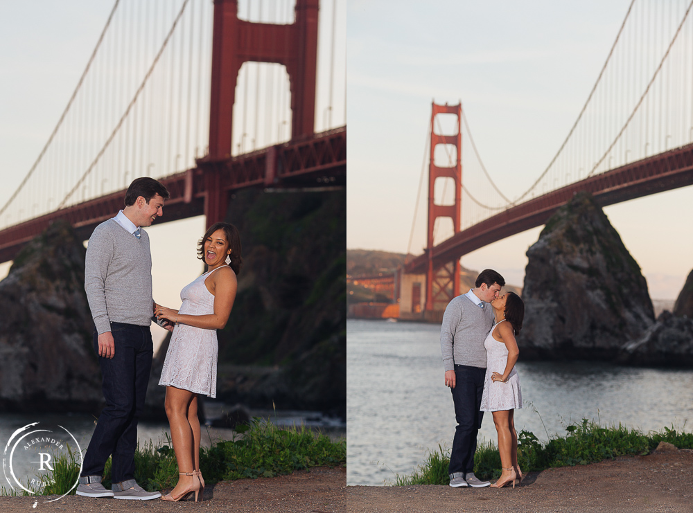 San Francisco and Golden Gate Bridge Engagement Session 0011