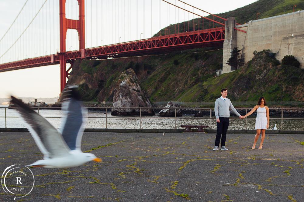 San Francisco and Golden Gate Bridge Engagement Session 0015