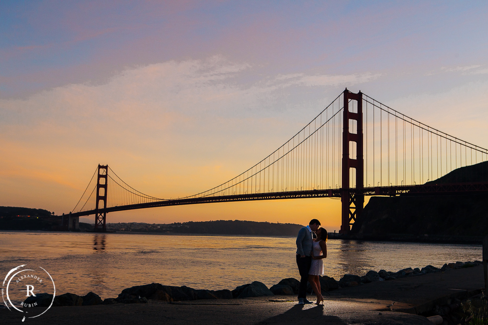 San Francisco and Golden Gate Bridge Engagement Session 0016